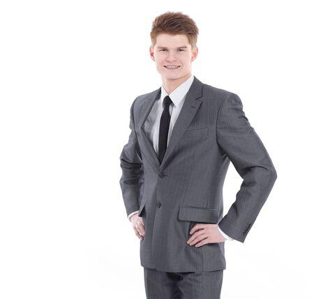 Photo pour in full growth.portrait of a young professional - image libre de droit