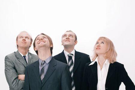 Foto de A group of business people looking at copy space - Imagen libre de derechos