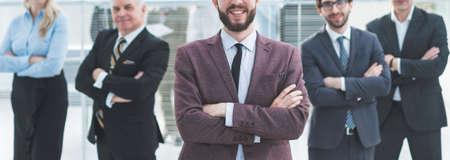 Foto de group of diverse business people standing in the office. - Imagen libre de derechos