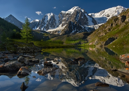 Mountain lake, West Siberia, Altai mountains, Chuya ridge