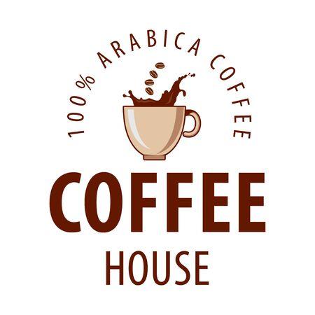 Illustration pour Coffee shop logo design template. Retro coffee emblem. Vector art. - image libre de droit