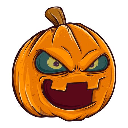 Vector stock of jack o lantern pumpkin head halloween