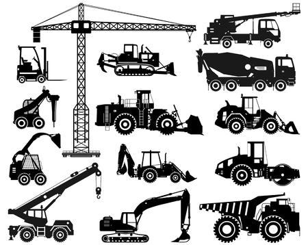 Ilustración de Building machineries and equipments. Vector illustration - Imagen libre de derechos