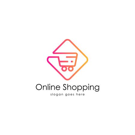 Illustration pour Online shopping logo vector - image libre de droit