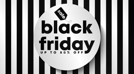 Illustration pour Black friday banner and background template vector. Flyer template for black friday. - image libre de droit