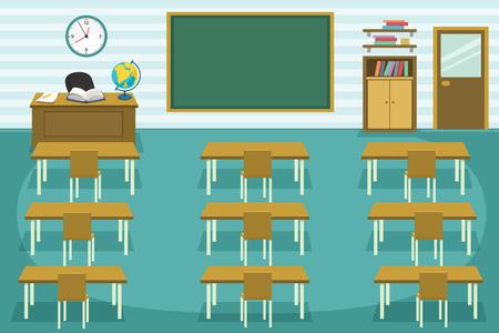 Illustration pour Vector Illustration Of Kids Classroom. - image libre de droit