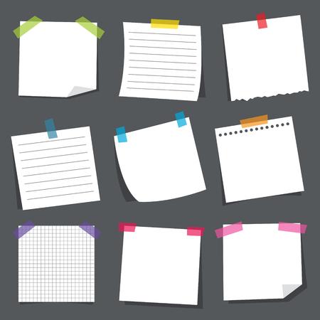Ilustración de Vector Illustration Of Note Papers - Imagen libre de derechos