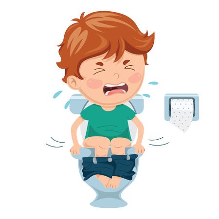 Illustration pour Vector Illustration Of Child Diseases - image libre de droit