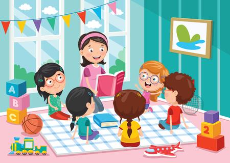 Illustration pour Vector Illustration Of Preschool Children - image libre de droit