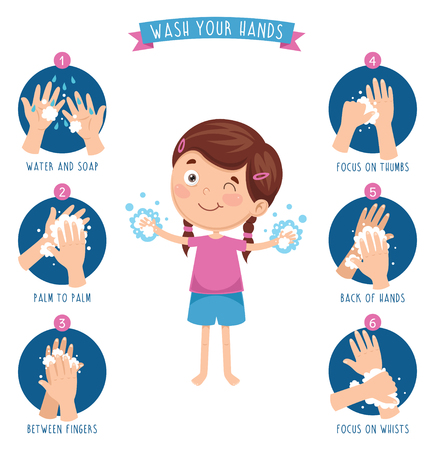 Illustration for Vector Illustration Of Washing Hands - Royalty Free Image