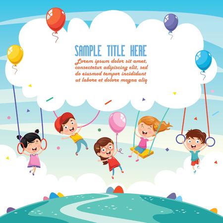 Illustration pour Illustration Of Children Background - image libre de droit
