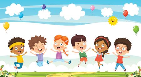 Illustration pour Vector Illustration Of Cartoon Children - image libre de droit