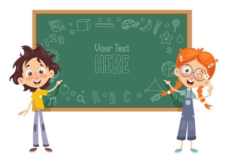 Illustration pour Vector Illustration Of Kids Classroom - image libre de droit