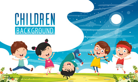 Illustration pour Vector Illustration Of Children Background - image libre de droit