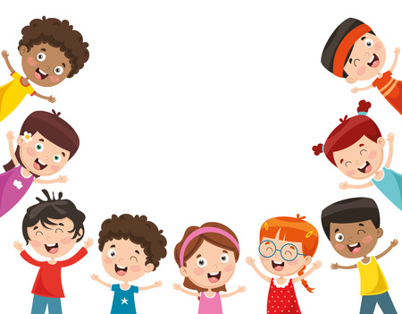 Illustration for Vector Illustration Of Happy Children - Royalty Free Image
