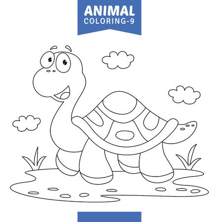 Ilustración de Vector Illustration Of Animal Coloring Page - Imagen libre de derechos