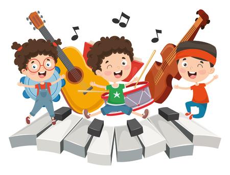 Illustration for Vector Illustration Of Children Music - Royalty Free Image