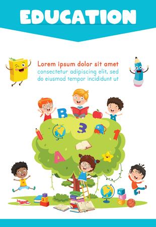 Illustration pour Vector Illustration Of Children Education - image libre de droit