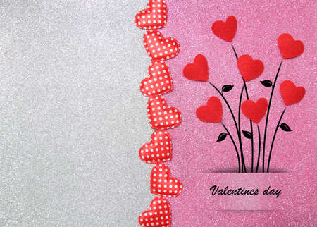 Photo for A beautiful postal card for a valentines day - Royalty Free Image