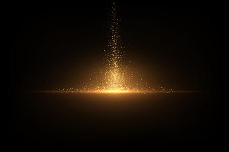 Illustration pour Eps 10 sparkling golden glitter on black. Abstract luxury background - image libre de droit
