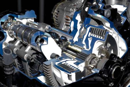 Gearbox cut-through view