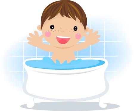 Boy in the bath