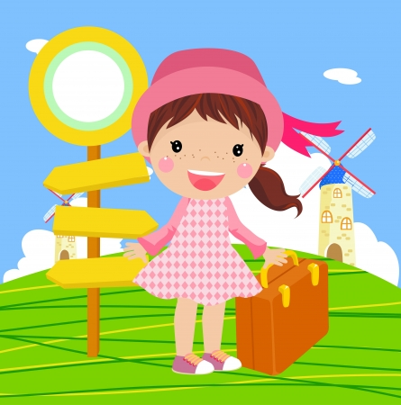 cute girl to travel