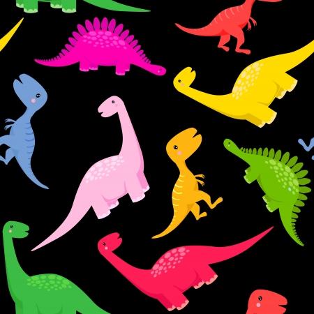 Vibrant Dino Print