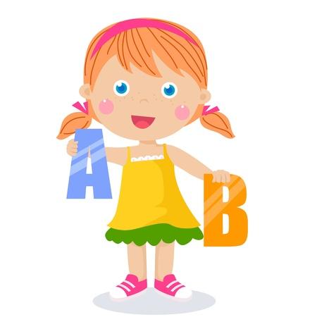A,B held by cute kids