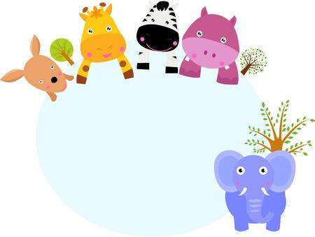 Ilustración de animal and banner - Imagen libre de derechos