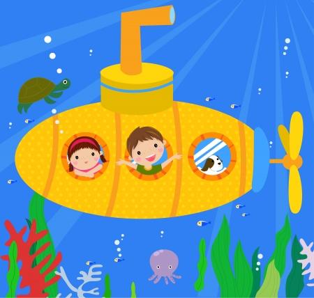 Submarine and kids