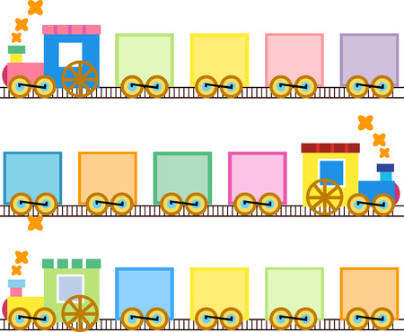 Illustration pour Cute trains - image libre de droit