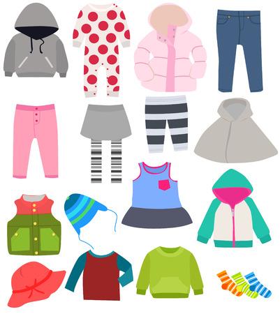 Ilustración de set of children\'s clothes - Imagen libre de derechos
