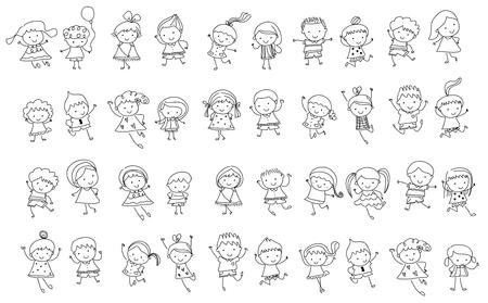 Photo pour Group of kids, drawing sketch - image libre de droit