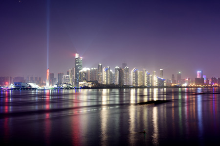 Night view of Changsha Delta