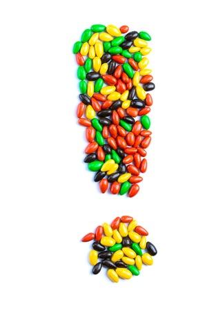 Foto de Letter of alphabet made of candy isolated on white background - Imagen libre de derechos