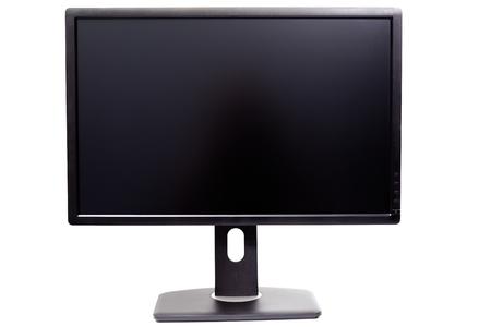 Photo for black IPS WUXGA monitor isolated on white background - Royalty Free Image