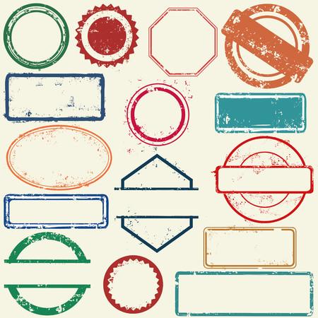 Illustration pour Stamps frames - image libre de droit