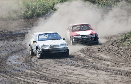 two cars for extreme off-road on the track