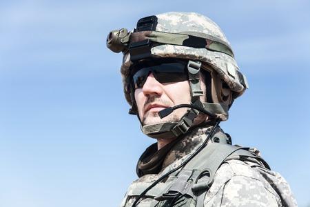United States paratrooper airborne infantry in uniform