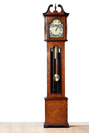 A very old grandfather clock stood the test of time