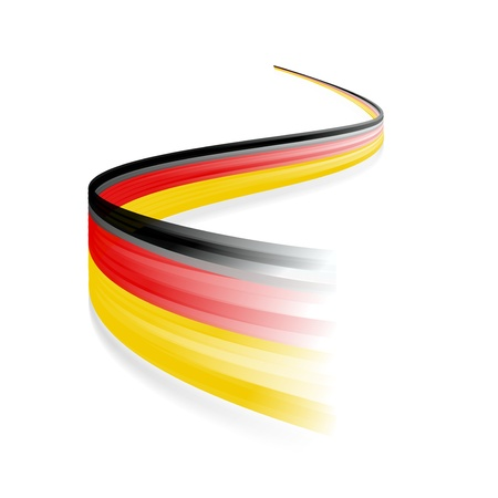 Abstract German waving flag isolated on white background