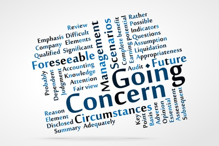 Going Concern word cloud