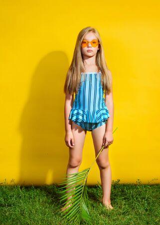 Photo for portrait of little model girl in studio - Royalty Free Image