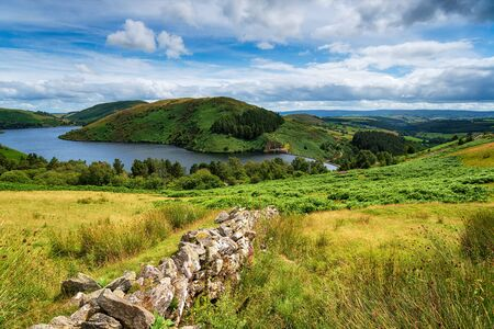 Photo pour Summer at Llyn Clywedog reservoir near Llanidloes in Wales - image libre de droit