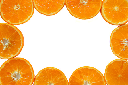 The ripe and fresh mandarins close up for background.