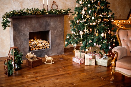 Foto per Presents and Gifts under Christmas Tree - Immagine Royalty Free