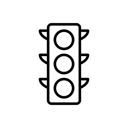 Illustration for Traffic light icon flat vector template design trendy - Royalty Free Image