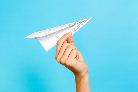 Photo pour Paper airplane concept - image libre de droit