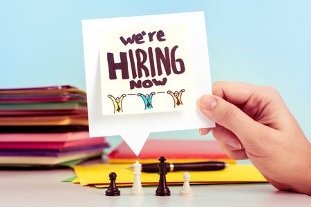 We are hiring message on office